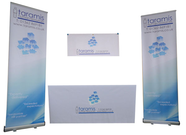 Exhibition Stand Tablecloths : Exhibition package deal branded tablecloths